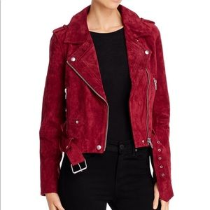 Blank NYC red suede moto jacket size xs